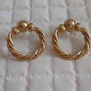 Goldtone post earrings